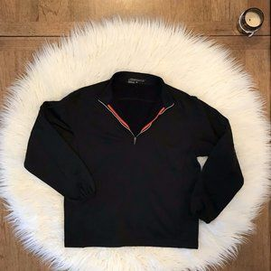 Womens Nike Golf Black 1/4 Zip Pullover Size Large